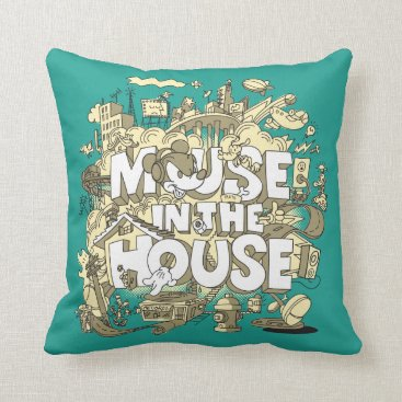 Disney Themed Mickey Mouse | Mouse In The House Throw Pillow