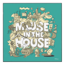 Mickey Mouse | Mouse In The House Wood Print