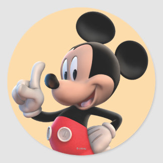 Mickey Mouse Number 1 Classic Round Sticker