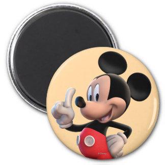 Mickey Mouse número 1 Imán Redondo 5 Cm