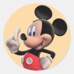 Mickey Mouse número 1 Pegatina Redonda