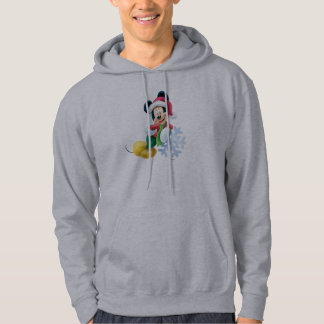 Mickey Mouse on Snowflake Hoodie