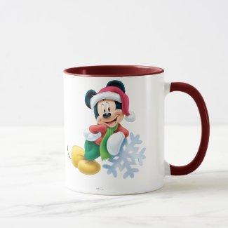 Mickey Mouse on Snowflake Mug