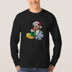 Mickey Mouse on Snowflake Tees at Zazzle
