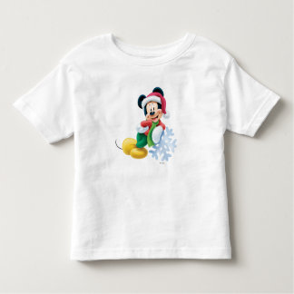 Mickey Mouse on Snowflake Toddler T-shirt