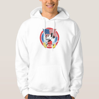 Mickey Mouse Parade With US Flag Hoodie