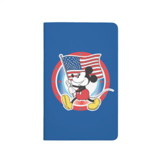 Mickey Mouse Parade With US Flag Journals