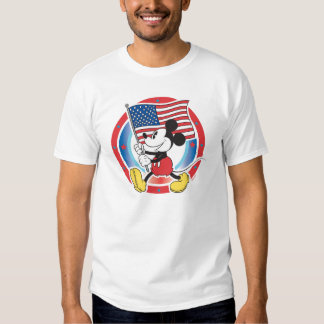 Mickey Mouse Parade With US Flag Tshirt