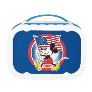 Mickey Mouse Parade With US Flag Yubo Lunchbox