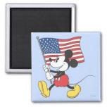 Mickey Mouse patriótico 1 Imanes Para Frigoríficos