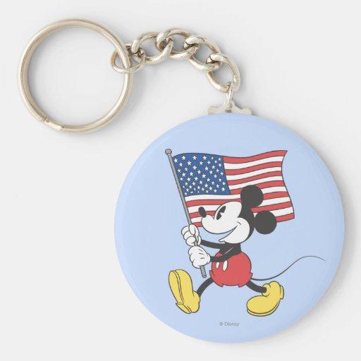 Mickey Mouse patriótico 1 Llaveros