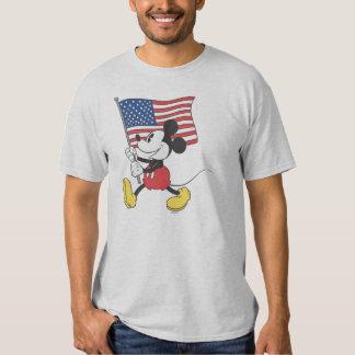 Mickey Mouse patriótico 1 Remeras