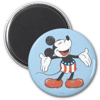 Mickey Mouse patriótico 2 Imán Redondo 5 Cm