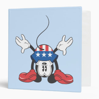 "Mickey Mouse patriótico 3 Carpeta 1 1/2"""