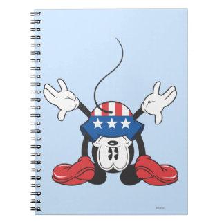 Mickey Mouse patriótico 3 Note Book