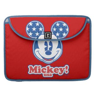 Mickey Mouse patriótico 4 Funda Macbook Pro
