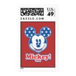 Mickey Mouse patriótico 4 Sellos