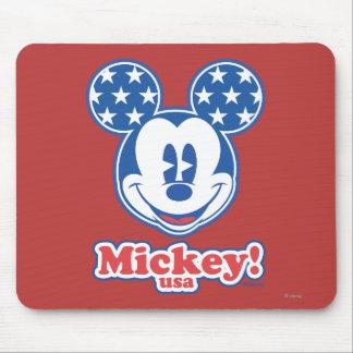 Mickey Mouse patriótico 4 Tapete De Raton