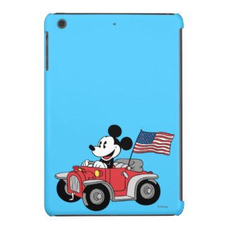 Mickey Mouse patriótico en convertible rojo Fundas De iPad Mini