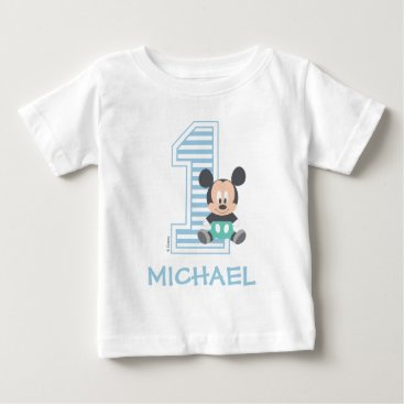 Disney Themed Mickey Mouse | Personalized First Birthday Baby T-Shirt
