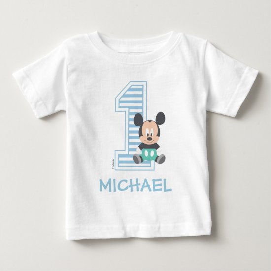 Mickey Mouse | Personalized First Birthday Baby T-Shirt