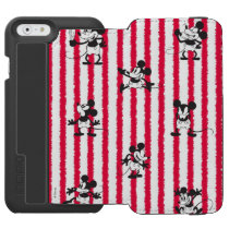 Mickey Mouse | Plane Crazy Pattern iPhone 6/6s Wallet Case