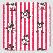 Mickey Mouse | Plane Crazy Pattern Square Sticker