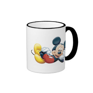 Mickey Mouse Posing for the Camera Ringer Mug