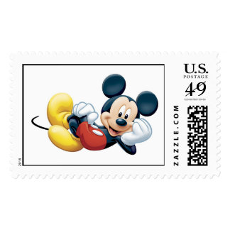 Mickey Mouse Posing for the Camera Stamp