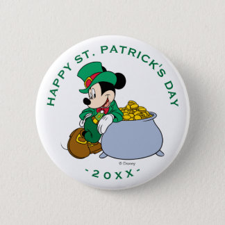 Mickey Mouse Pot of Gold | St. Patrick's Day Pinback Button
