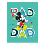Mickey Mouse   Rad Like Dad Postcard