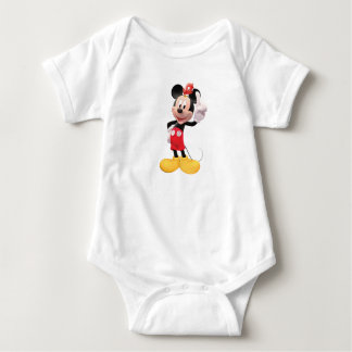 Mickey Mouse raised index finger with red bird T-shirts