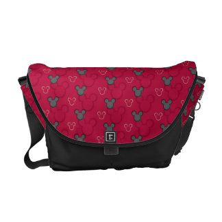 Mickey Mouse Red Pattern Courier Bag