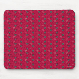 Mickey Mouse Red Pattern Mouse Pad