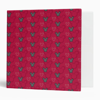 Mickey Mouse Red Pattern Vinyl Binders