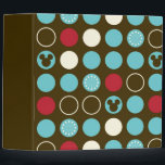 "Mickey Mouse | Retro Polka Dot Pattern 3 Ring Binder<br><div class=""desc"">Mickey Retro Polka Dot Pattern</div>"