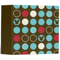 Mickey Mouse | Retro Polka Dot Pattern 3 Ring Binder