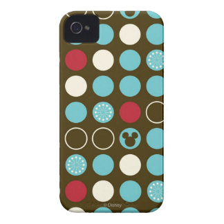 Mickey Mouse   Retro Polka Dot Pattern iPhone 4 Cover