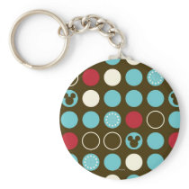 Mickey Mouse | Retro Polka Dot Pattern Keychain