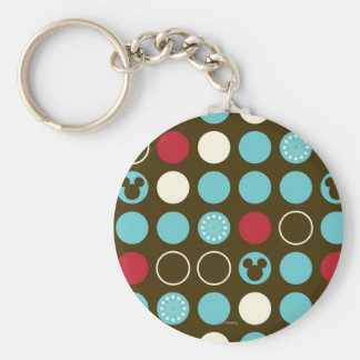 Mickey Mouse | Retro Polka Dot Pattern Keychain