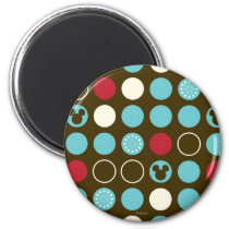 Mickey Mouse | Retro Polka Dot Pattern Magnet
