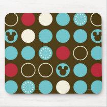 Mickey Mouse | Retro Polka Dot Pattern Mouse Pad