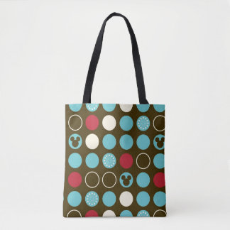 Mickey Mouse | Retro Polka Dot Pattern Tote Bag
