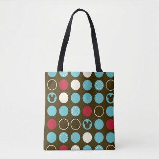 Mickey Mouse | Retro Polka Dot Pattern Tote Bag