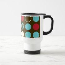 Mickey Mouse | Retro Polka Dot Pattern Travel Mug