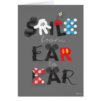 Mickey Mouse | Smile From Ear To Ear Card