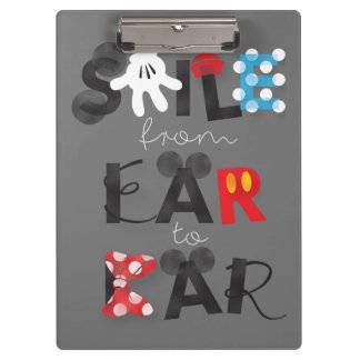 Mickey Mouse | Smile From Ear To Ear Clipboard