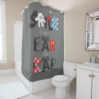Mickey Mouse   Smile From Ear To Ear Shower Curtain at Zazzle