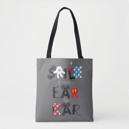 mickey mouse smile from ear to ear tote bag zazzle com