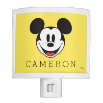 Mickey Mouse Smiling - Add Your Name Night Light